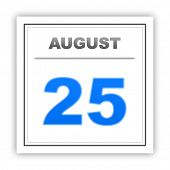 picture of august calendar  - August 25 - JPG