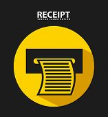 picture of receipt  - receipt print design - JPG