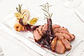 stock photo of roast duck  - Roasted duck - JPG