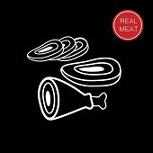 image of meat icon  - meat  - JPG