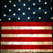 stock photo of nationalism  - Grungy American national flag design for 4th of July - JPG