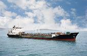 stock photo of fuel tanker  - Port bunkering tanker in the waters of Vladivostok - JPG