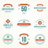 stock photo of ten years old  - Vector set of anniversary signs - JPG