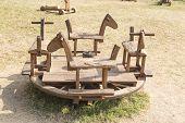 pic of carousel horse  - Wooden toys children - JPG