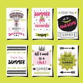 foto of you are awesome  - Summer greetings journaling template cards set on green background - JPG