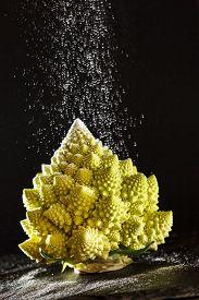 picture of romanesco  - Christmas tree from romanesco broccoli - JPG