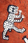 stock photo of dogon  - A close up of Dogon artwork on a Hogon - JPG