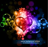 Abstract Colorful Background für Valentine's Day Flyer
