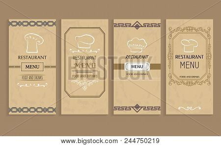 Restaurant Menu With Drinks And