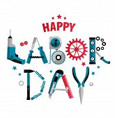 3 September Labor Day Poster Or Banner. Vector Illustration Of Celebration poster