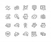 Simple Set Of Traffic Related Vector Line Icons. Contains Such Icons As Pay Per Click, Monetize, Tra poster