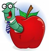 picture of bookworm  - A book worm hanging out in his home - JPG