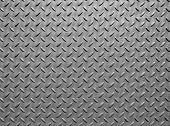 Grey Steel Metal Plate With Paint Texture And Industrial Diamond Pattern Texture poster