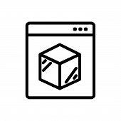 Online Logistics Outlined Symbol Of Online Delivery System. Online Logistics Icon. Online Logistics  poster