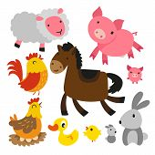 Animals Character Design, Cute Animals Collection, Animals Set poster
