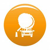 Accident Icon. Simple Illustration Of Accident Vector Icon For Any Design Orange poster