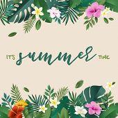 Summer Vector Illustration Concept For Background, Web And Social Media Banner, Summertime Card, Par poster