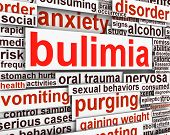 stock photo of bulimic  - Bulimia Nervosa message conceptual design - JPG