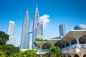 stock photo of petronas twin towers  - Picture of Pertonas Twin Tower in Kuala Lumpur Malaysia - JPG