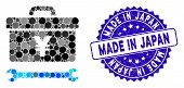 Mosaic Yen Toolbox Icon And Grunge Stamp Watermark With Made In Japan Phrase. Mosaic Vector Is Creat poster