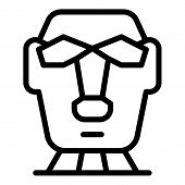 Easter Island Statue Icon. Outline Easter Island Statue Vector Icon For Web Design Isolated On White poster