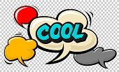 Cool Pop Art Cloud Bubble. Smile, Wow, Pow, Cool, Ok, Oops, Wtf Funny Speech Bubble. Trendy Colorful poster