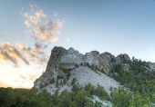 picture of mount rushmore national memorial  - Mount Rushmore monument in South Dakota at sunset time - JPG