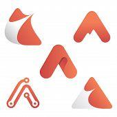 Set A Letter Logo Vector, A Letter Logo Design Vector Illustration Template, A Letter Logo Vector, L poster