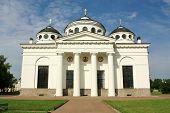 image of tsarskoe  - Sophia Cathedral in Tsarskoe Selo built by the architect Cameron in the late eighteenth century - JPG