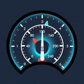 Isolated Speedometers For Dashboard. Device For Measuring Speed And Futuristic Speedometer, Technolo poster