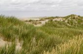 Beach Scenery Seen At Spiekeroog, One Of The East Frisian Islands At The North Sea Coast Of Germany poster