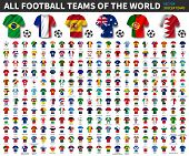 All National Flags Of The World . National Waving Jersey Soccer Teams With Country Flag Pattern . Ve poster