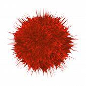Microscopic Hiv Bacterial Microorganism Vector. Unhealthy Danger Red Viral Bacterial Organism. Epide poster