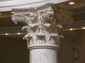 stock photo of boise  - This Roman Corinthian style column can be seen in the Idaho State Capitol Building in Boise - JPG