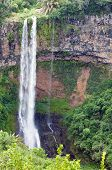 stock photo of chamarel  - Chamarel waterfalls in Mauritius - JPG