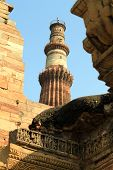 picture of british bombay  - top of temple overlooks ruins in old city - JPG