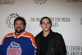 LOS ANGELES - OCT 22:  Kevin Smith, Jason Mewes arrives at  the Paley Center for Media Annual Los An
