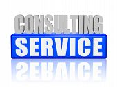 Consulting Service In 3D Letters And Block