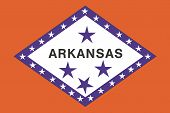 Flag of the American State of Arkansas