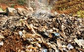 Burning Waste Or Garbage In Africa