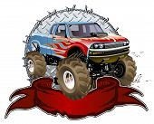 stock photo of bigfoot  - Vector Cartoon Monster Truck - JPG