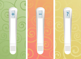 pic of pregnancy test  - Three different pregnancy test results - JPG
