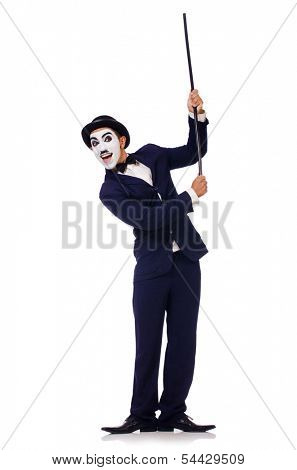 Personification of Charlie Chaplin on