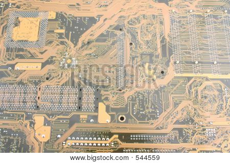 Picture or Photo of Printed circuit board pattern