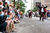 Large Crowd Of Spectators Watch Dragon Con Parade In Atlanta