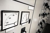 stock photo of plc  - A Electric Voltage And Amperage  Control - JPG