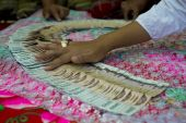 foto of dowry  - wedding money in thailand with a shallow depth of field - JPG