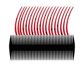 foto of lice  - Lice comb and hair with nits on white background - JPG