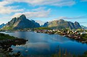 stock photo of reining  - View over Reine village - JPG