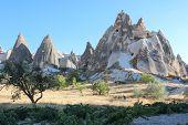 picture of goreme  - Cappadocia landscape near Goreme - JPG